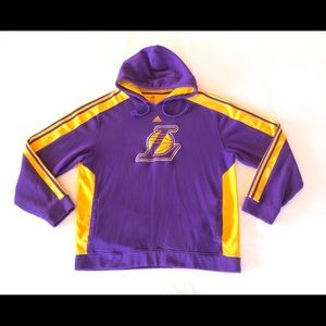 Los Angeles Lakers Adidas Stripped Pullover Hoodie